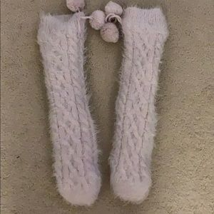 Cozy reading socks